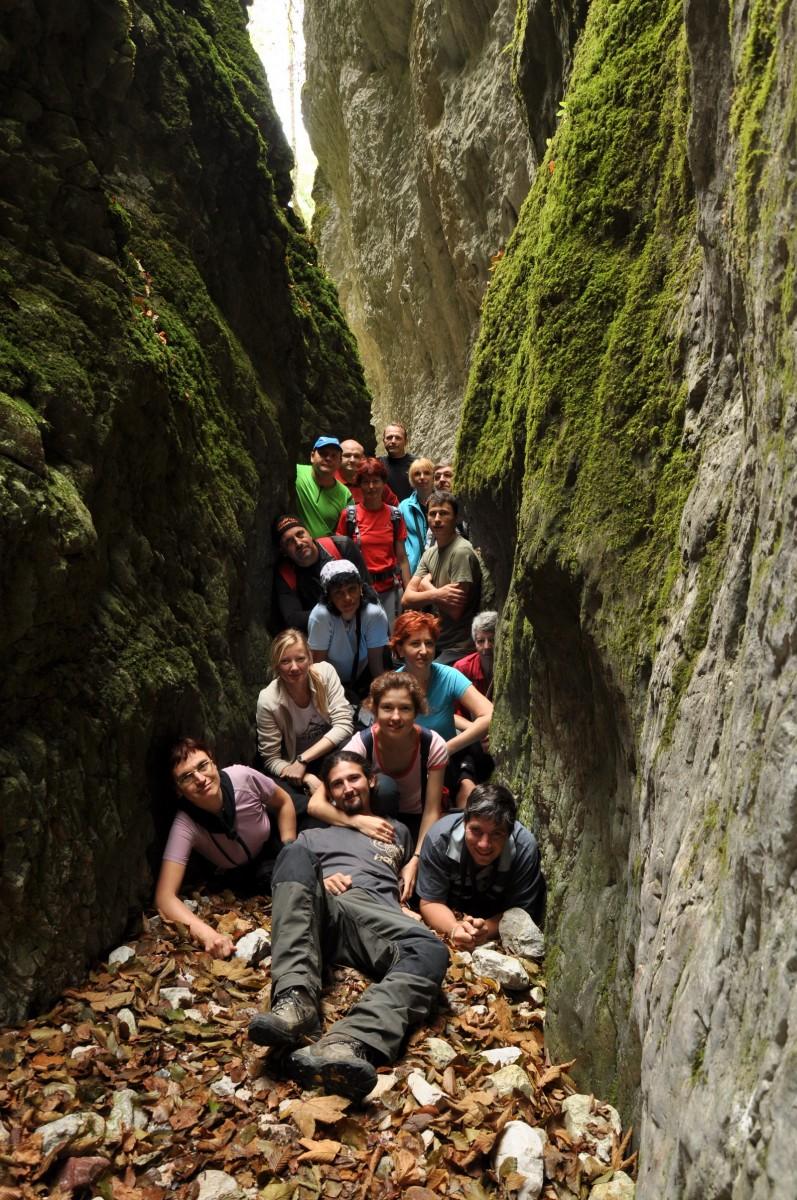 0491 Fotografie de grup, Canionul Sighistel, Valea Sighistelului, Muntii Bihor_resize