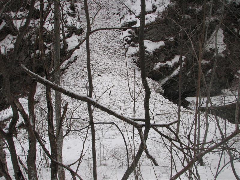 o mică cădere de zăpadă