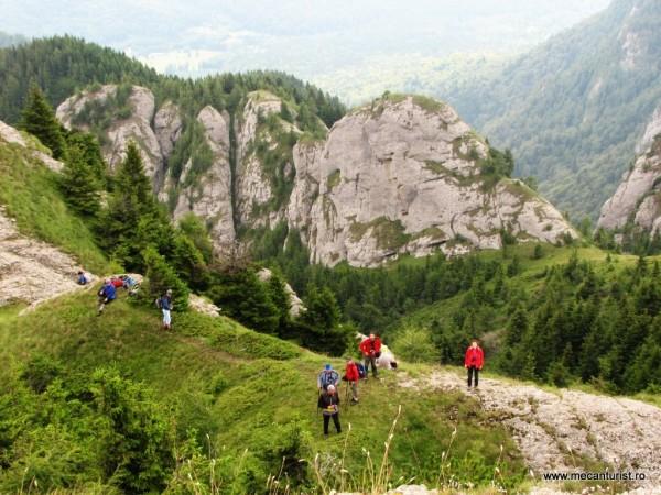 Din vârful escaladat de unii băieţi zările se deschid către hăurile din Valea Pârâului Sterp şi Poiana Stânii