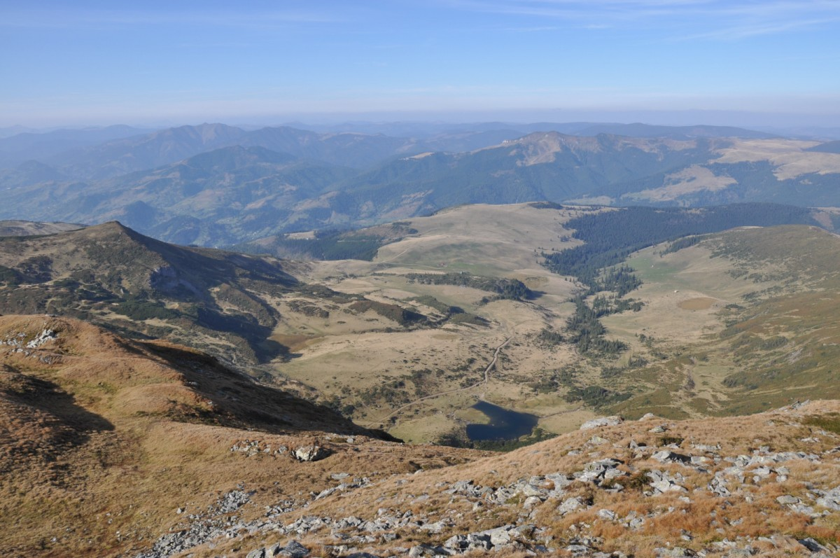 425 Lacul Izvorul Bistritei, Varful Gargalau 2158m, Traseul de Creasta intre Saua cu Lac 2140m si Saua Gargalau 1907m, Muntii Rodnei