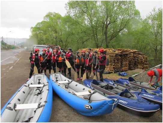 Poza de grup canoe